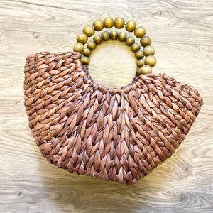 Vintage Woven Wicker Mini Market Bag